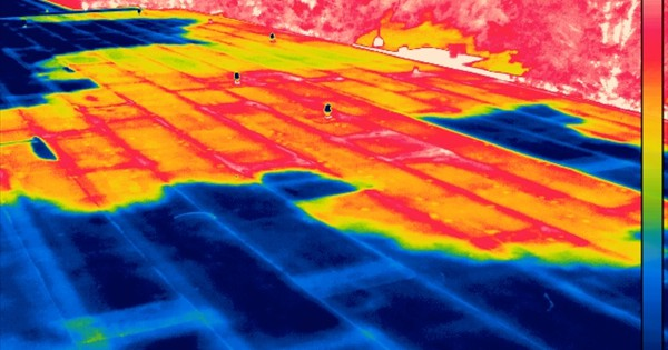 On-roof survey of heat signatures.