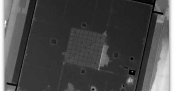Aerial Night-Scan of Flat Roof